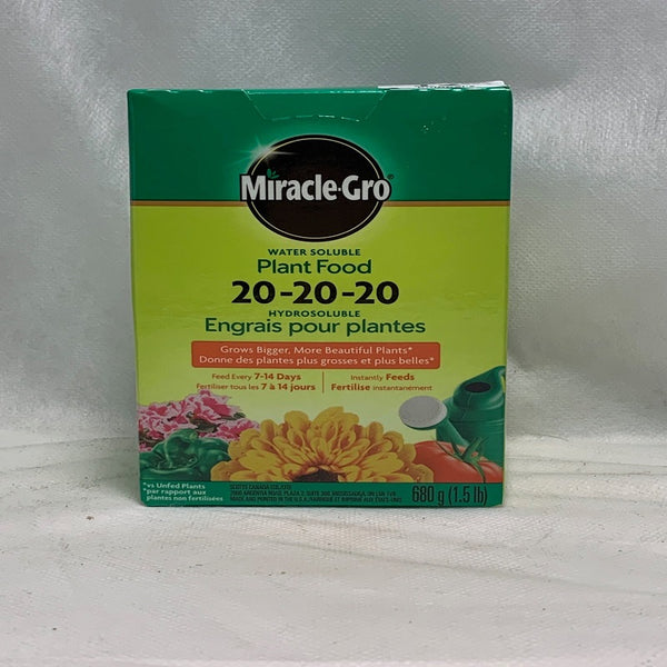 Miracle Gro Plant Food Fertilizer 20-20-20
