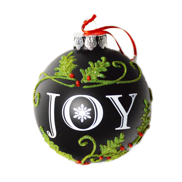 'Joy' Glass Ornament