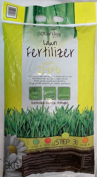 Summer Lawn Fertilizer 11-0-6 9kg 3200 sq ft