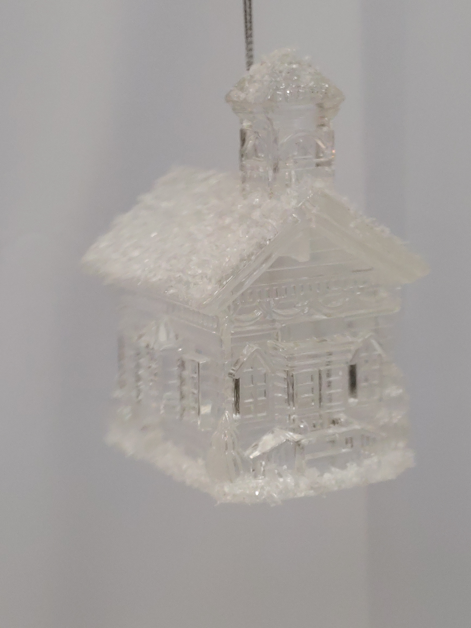 Clear Church Ornament