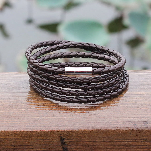 Handmade Sproty Leather Bracelet