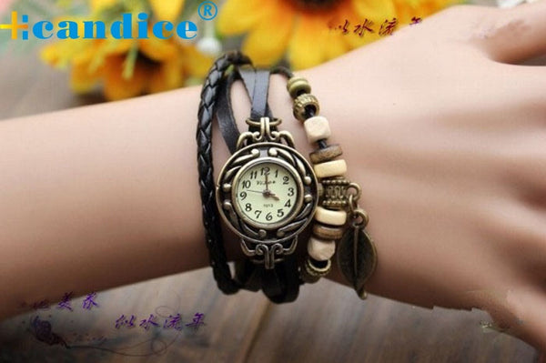 Women Bracelet Leaf Watch