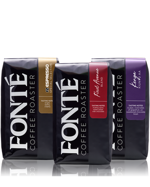 Fonté Coffee Trio  Of Best Selling Blends