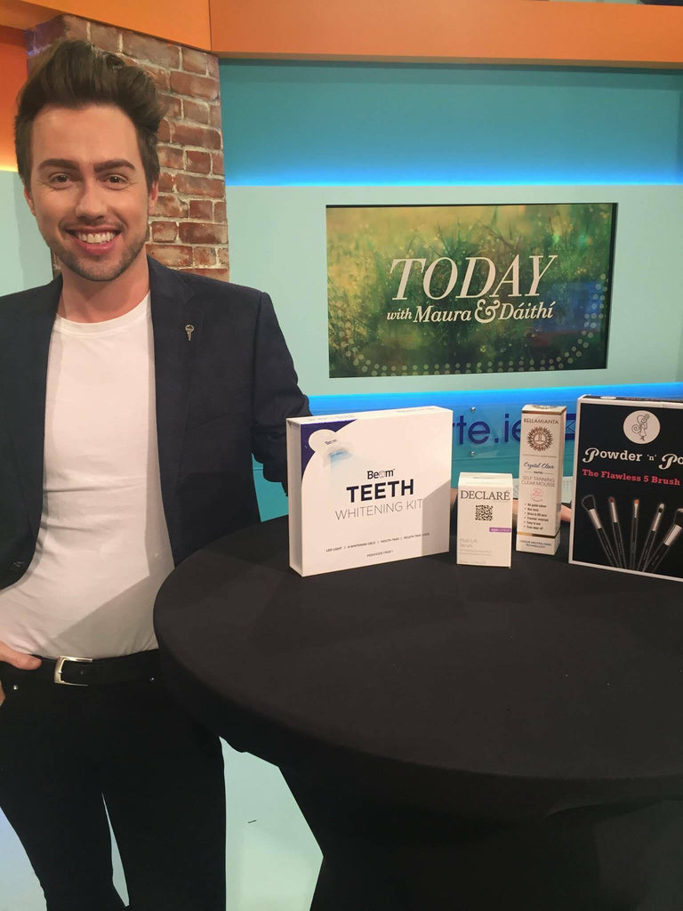 Mark Roger RTE Today with Powder n Pout Cosmetics