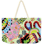 Candy World design on Tote Bag - natural rope