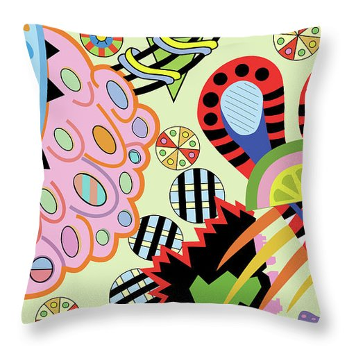 Candy World design on cushion