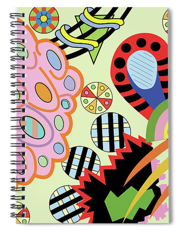 Candy World design notebook cover