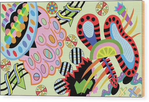 Candy World design on Wood Print