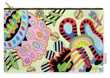 Candy World design on carry-all pouch