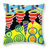 Discotheque design - Throw Pillow