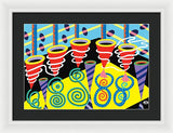 Discotheque design - Framed print