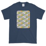 Flower Cups Short-Sleeve T-Shirt - Blue Dusk