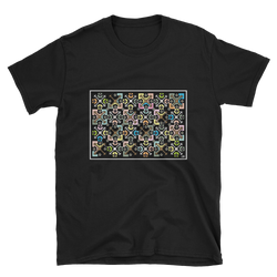 Flower Cage Short-Sleeve Unisex T-Shirt - Black