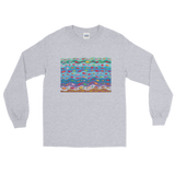 Swimming Fish Long Sleeve T-Shirt - Sport Grey