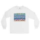 Swimming Fish Long Sleeve T-Shirt - White