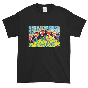 Discotheque design on t-shirt - Black