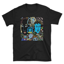 Women Faces Short-Sleeve Unisex T-Shirt - Black