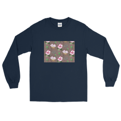 Hibiscus Pattern - Men's Long Sleeve Shirt