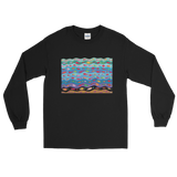 Swimming Fish Long Sleeve T-Shirt - Black