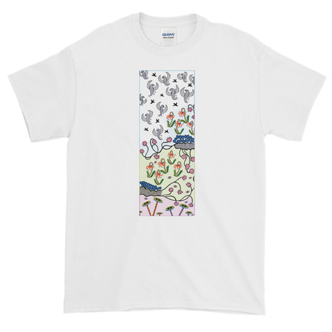 Rising Birds Unisex Short-Sleeve T-Shirt - White