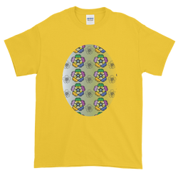 Purple Pansies Short-Sleeve T-Shirt - Yellow Daisy