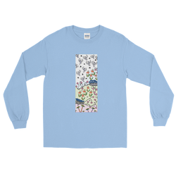 Rising Birds Unisex Long Sleeve T-Shirt - Light Blue