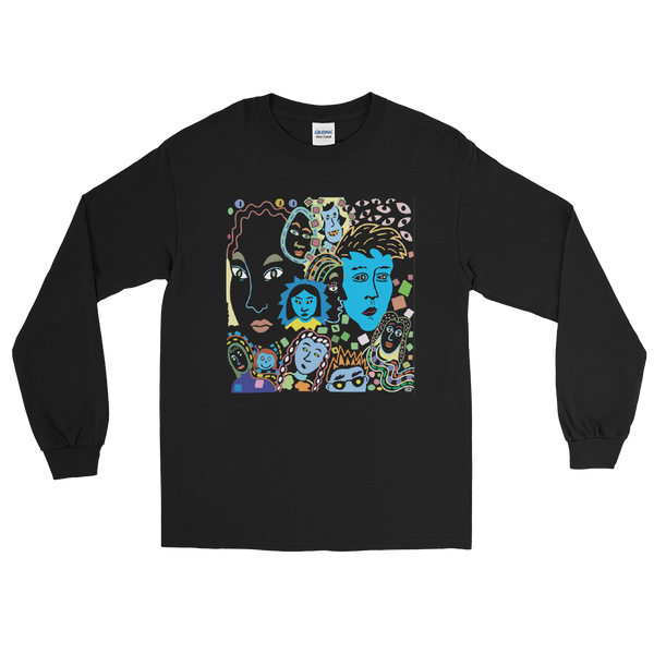 Women Faces - Men's Long Sleeve Shirt