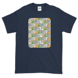 Flower Cups Short-Sleeve T-Shirt - Navy Blue