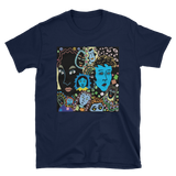 Women Faces Short-Sleeve Unisex T-Shirt - Navy Blue