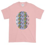 Purple Pansies Short-Sleeve T-Shirt - Light Pink
