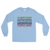 Swimming Fish Long Sleeve T-Shirt - Light Blue