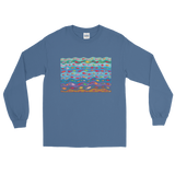 Swimming Fish Long Sleeve T-Shirt - Indigo Blue