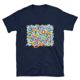 Mechanical Clouds Short-Sleeve Unisex T-Shirt - Navy Blue