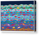 Swimming Fish - Canvas Print