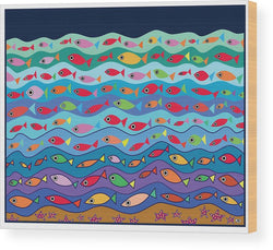 Swimming Fish - Wood Print