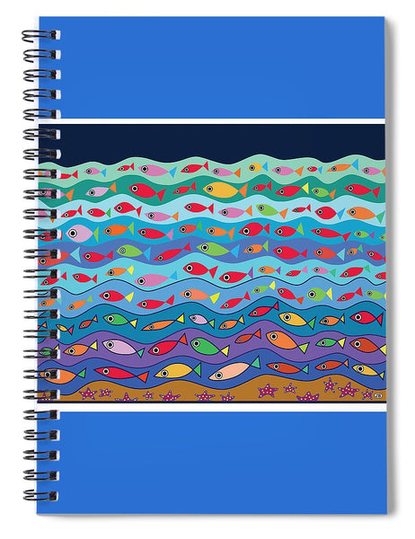 Swimming Fish - Spiral Notebook