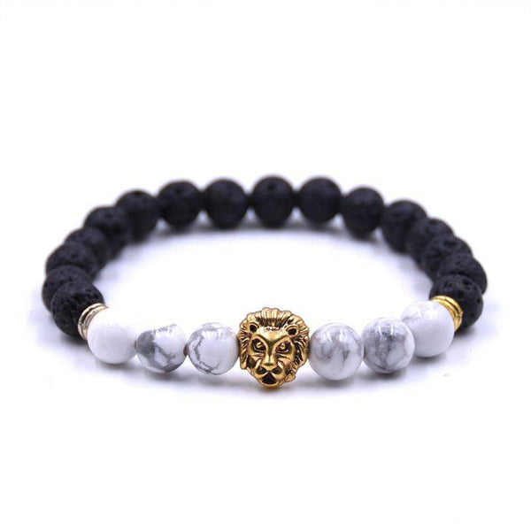 White Lion Essential Oil Diffuser Bracelet