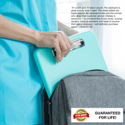 ClinicalGuru Set - Nursing Clipboard with Storage and Heavy Duty Cheat Sheet Set