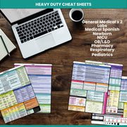 Nursing Essentials Cheat Sheet Set