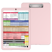 Nursing Clipboard with Storage and Clinical Cheat Sheet
