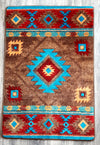 "Rug - ""Whiskey River"" - Turquoise"