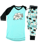 Lazy One Women's Pajamas - Fast Asheep - Tall Tee