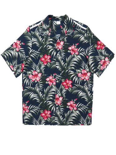 Racer Hawaiian Print Shirt
