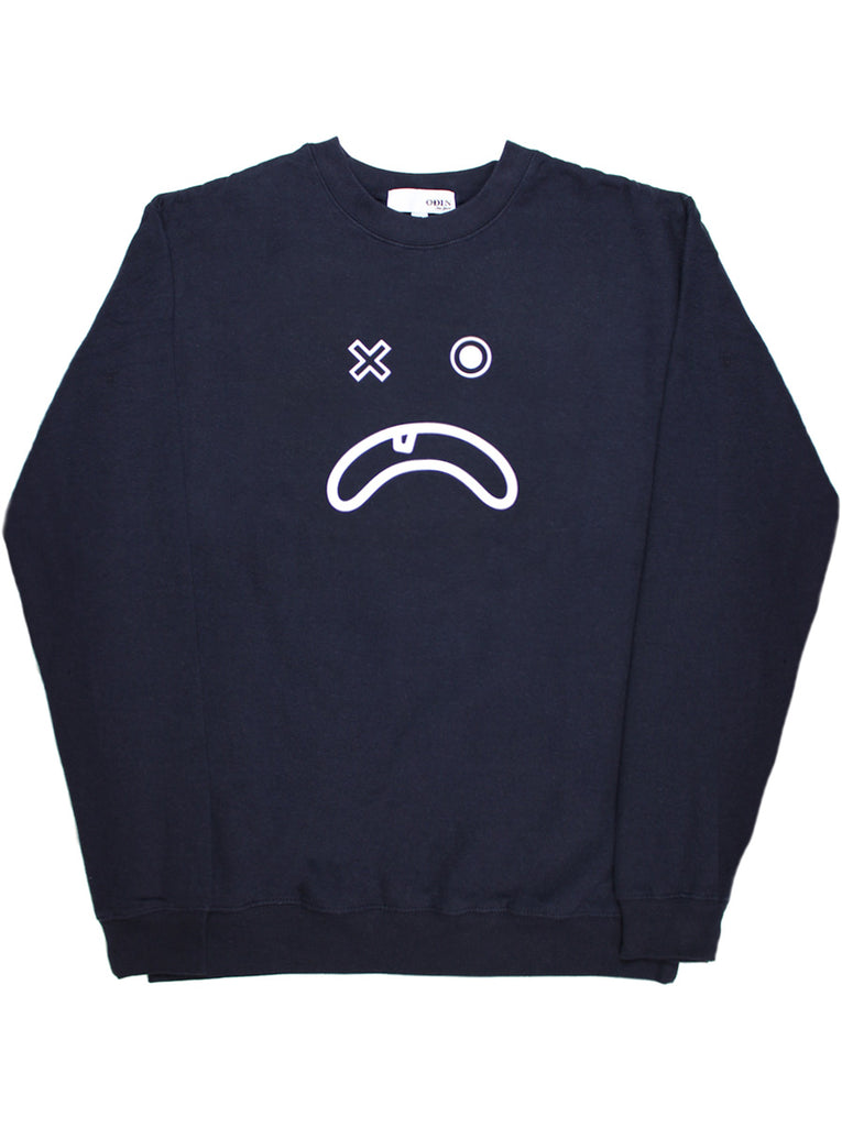Frown Face Screened Crewneck