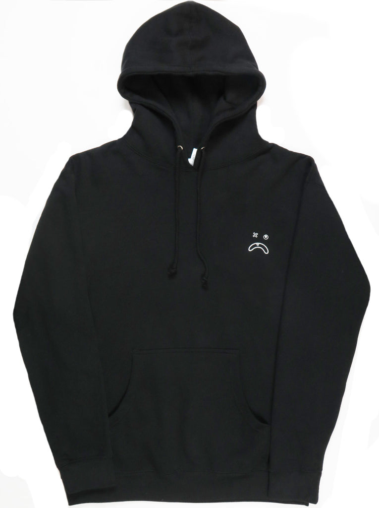 Embroidered Frown Hoodie