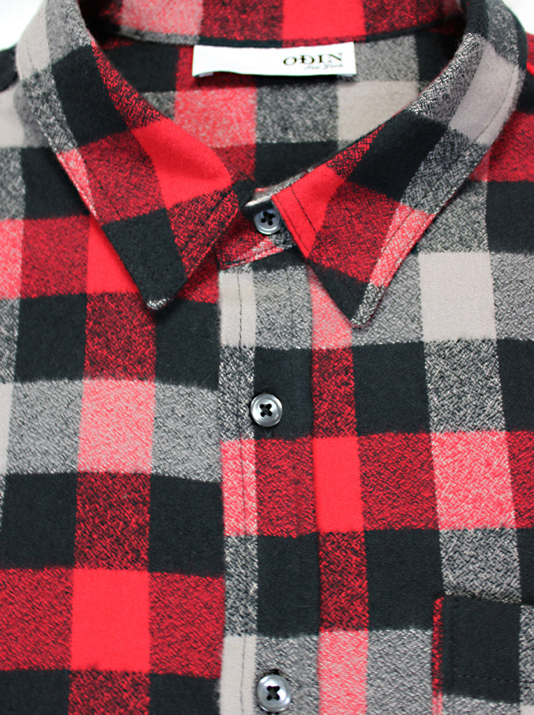 Brushed Flannel Button Down