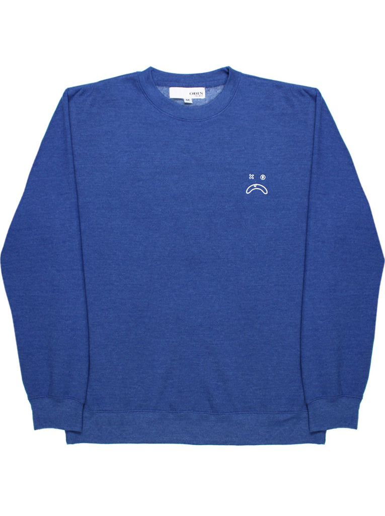 Embroidered Frown Face Crewneck