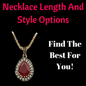 Necklace Length And Style Options - Find The Best For You