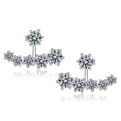 silver stud earrings for women