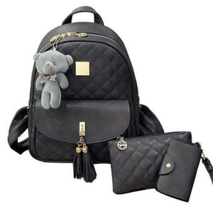 3 piece bookbag purse set